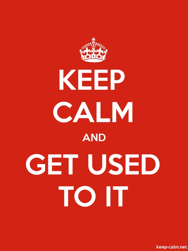 KEEP CALM AND GET USED TO IT - white/red - Default (600x800)