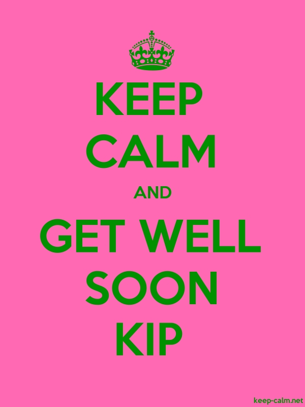 KEEP CALM AND GET WELL SOON KIP - green/pink - Default (600x800)