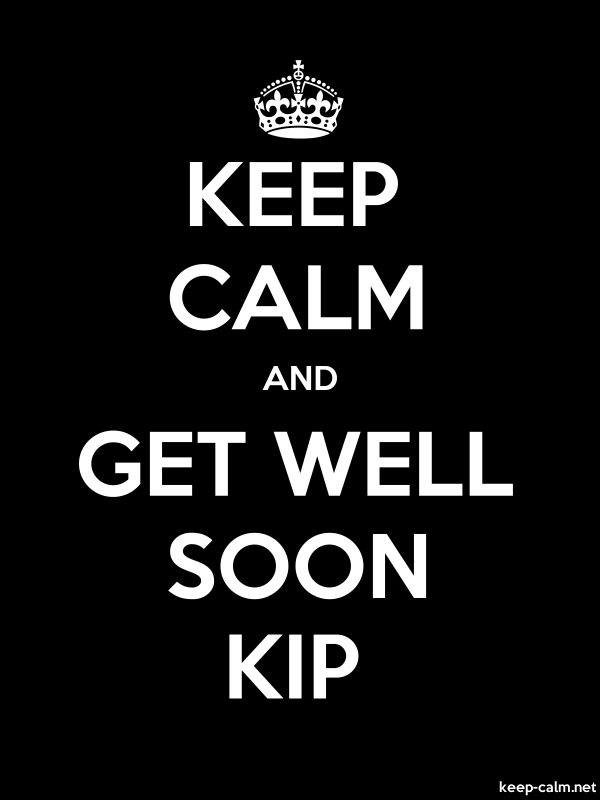 KEEP CALM AND GET WELL SOON KIP - white/black - Default (600x800)
