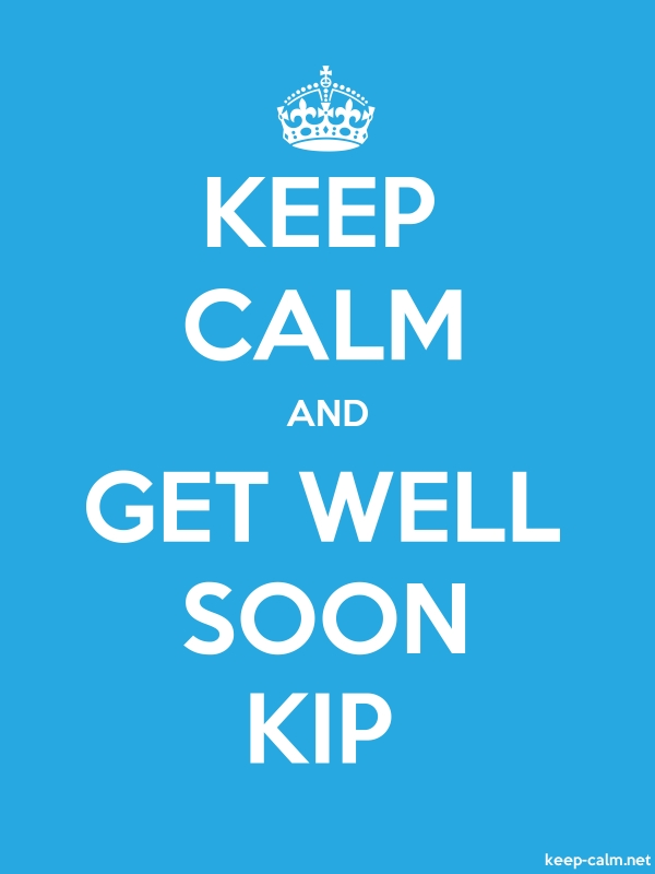 KEEP CALM AND GET WELL SOON KIP - white/blue - Default (600x800)