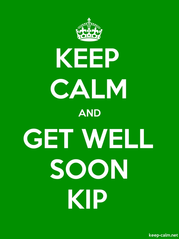 KEEP CALM AND GET WELL SOON KIP - white/green - Default (600x800)