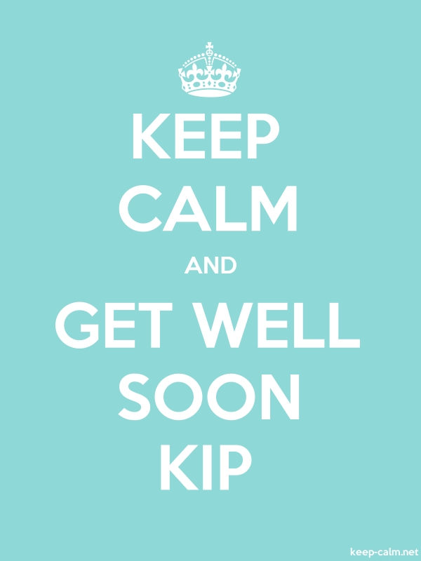 KEEP CALM AND GET WELL SOON KIP - white/lightblue - Default (600x800)