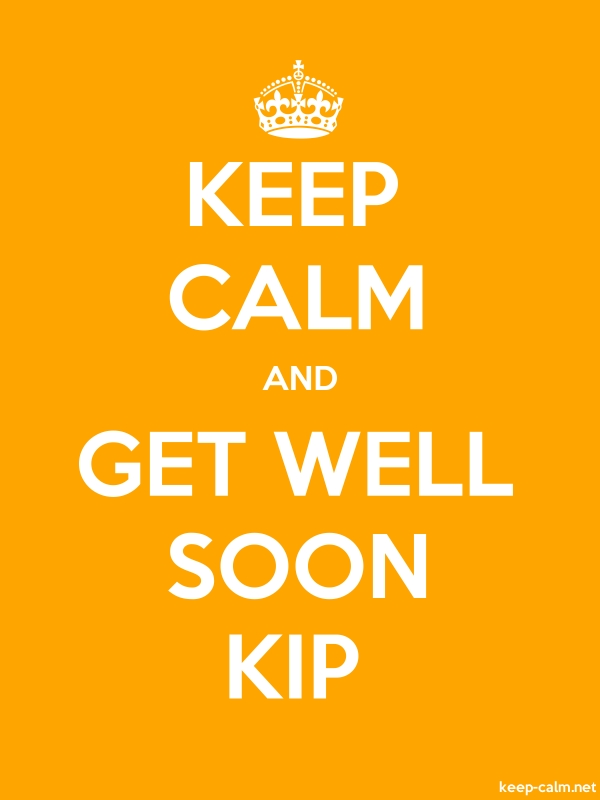 KEEP CALM AND GET WELL SOON KIP - white/orange - Default (600x800)
