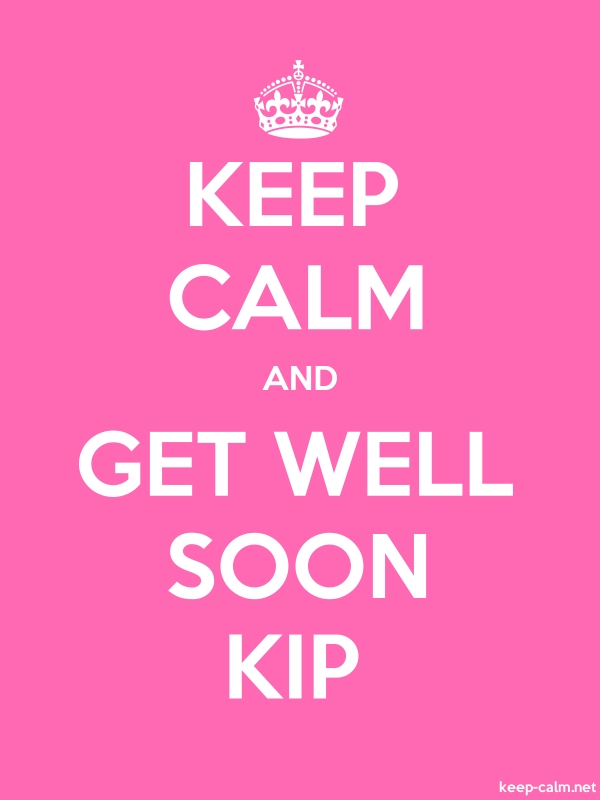 KEEP CALM AND GET WELL SOON KIP - white/pink - Default (600x800)