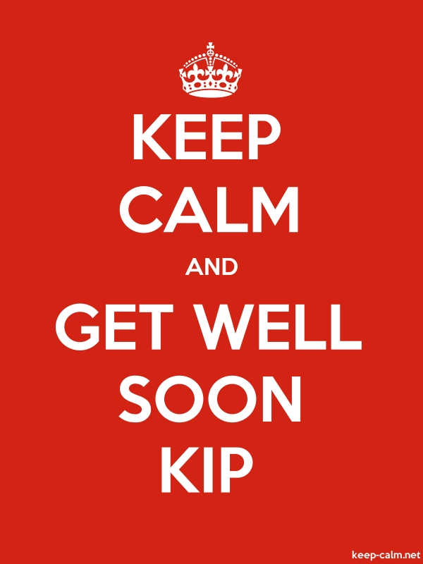 KEEP CALM AND GET WELL SOON KIP - white/red - Default (600x800)