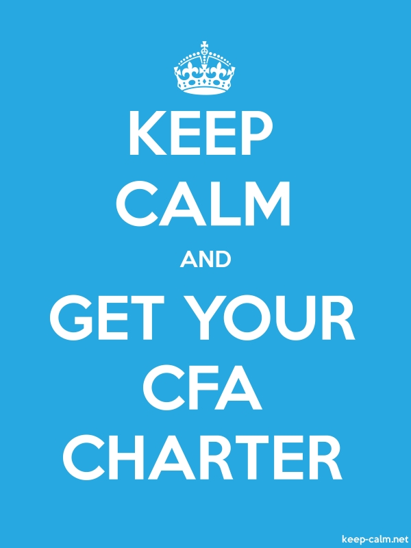 KEEP CALM AND GET YOUR CFA CHARTER - white/blue - Default (600x800)