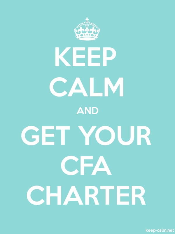 KEEP CALM AND GET YOUR CFA CHARTER - white/lightblue - Default (600x800)