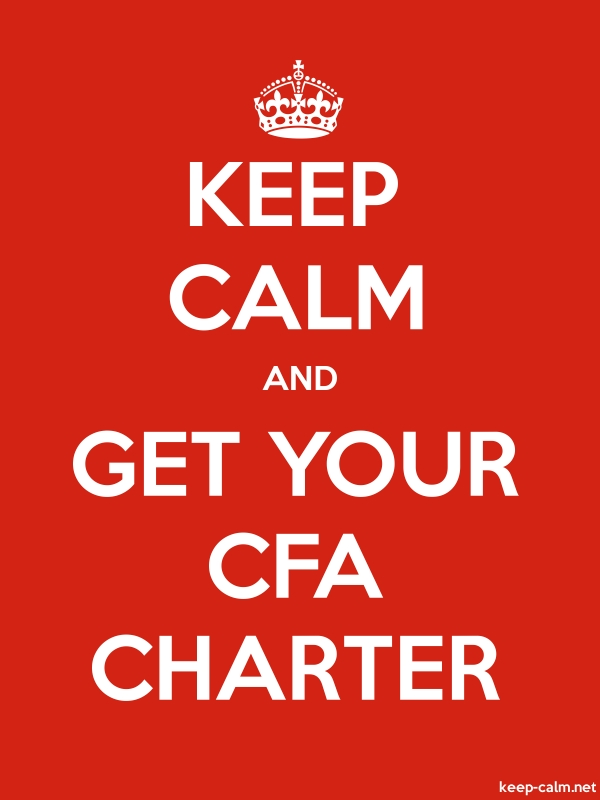 KEEP CALM AND GET YOUR CFA CHARTER - white/red - Default (600x800)