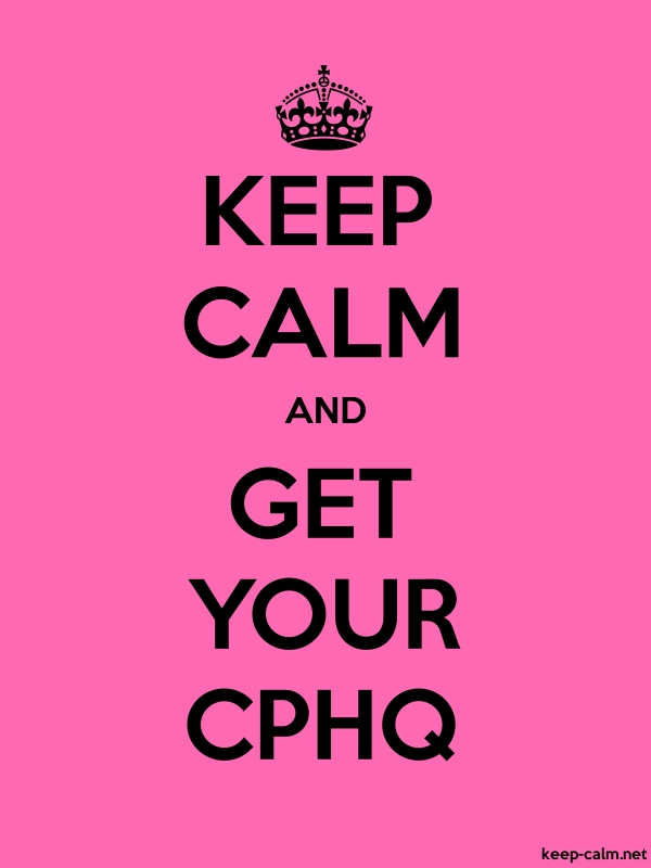 KEEP CALM AND GET YOUR CPHQ - black/pink - Default (600x800)