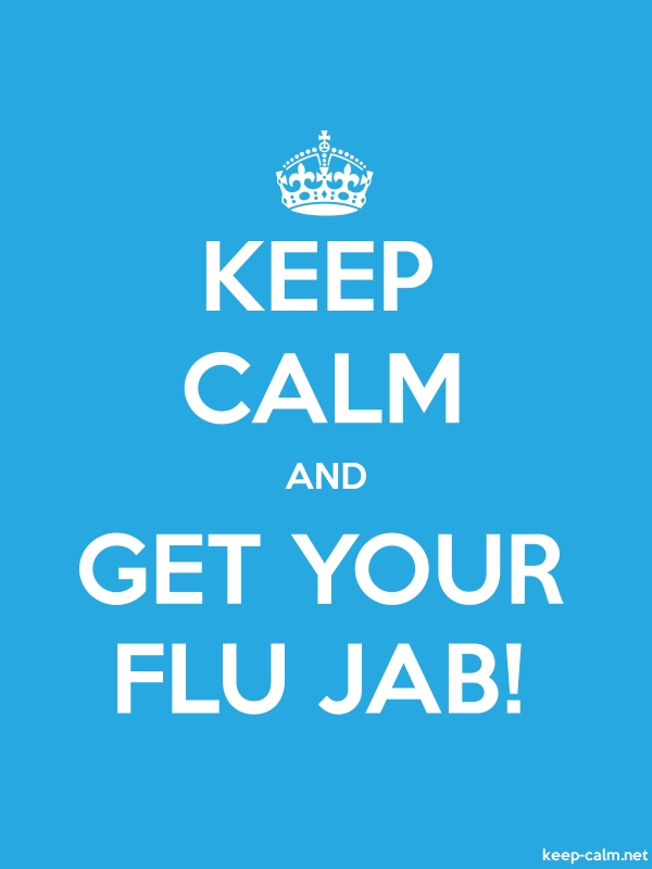 KEEP CALM AND GET YOUR FLU JAB! - white/blue - Default (600x800)