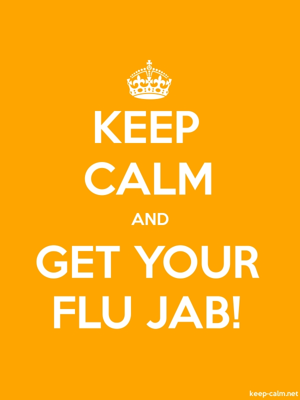 KEEP CALM AND GET YOUR FLU JAB! - white/orange - Default (600x800)