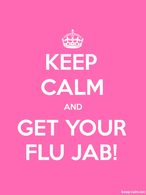 KEEP CALM AND GET YOUR FLU JAB! - white/pink - Default (600x800)