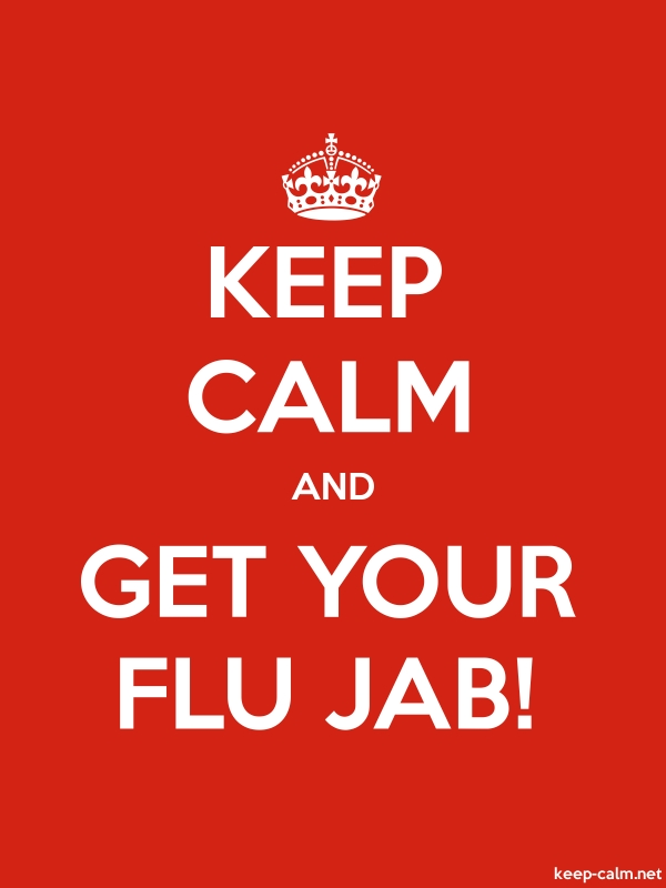 KEEP CALM AND GET YOUR FLU JAB! - white/red - Default (600x800)