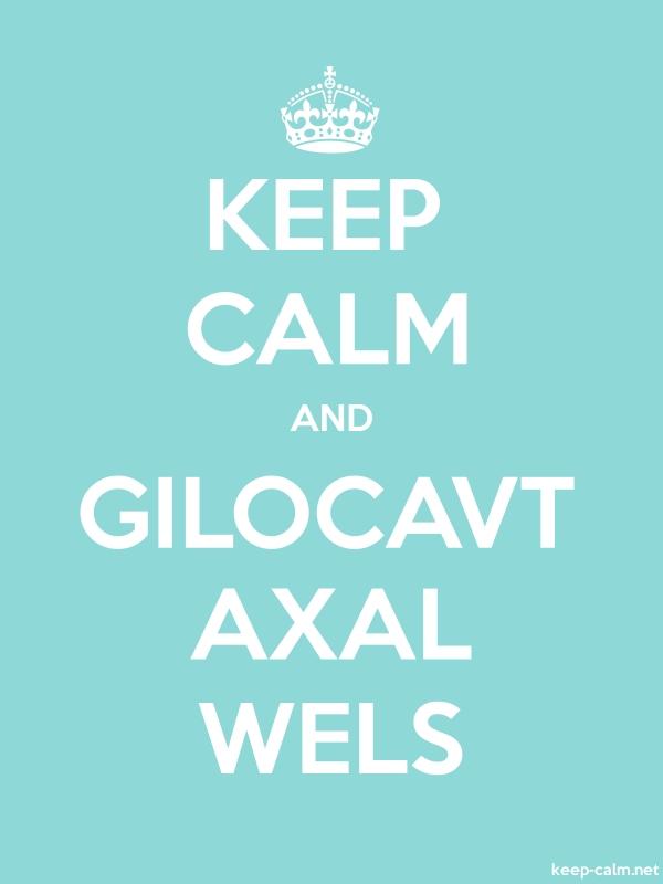 KEEP CALM AND GILOCAVT AXAL WELS - white/lightblue - Default (600x800)