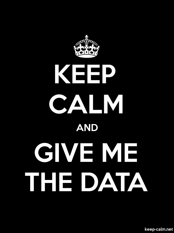 KEEP CALM AND GIVE ME THE DATA - white/black - Default (600x800)