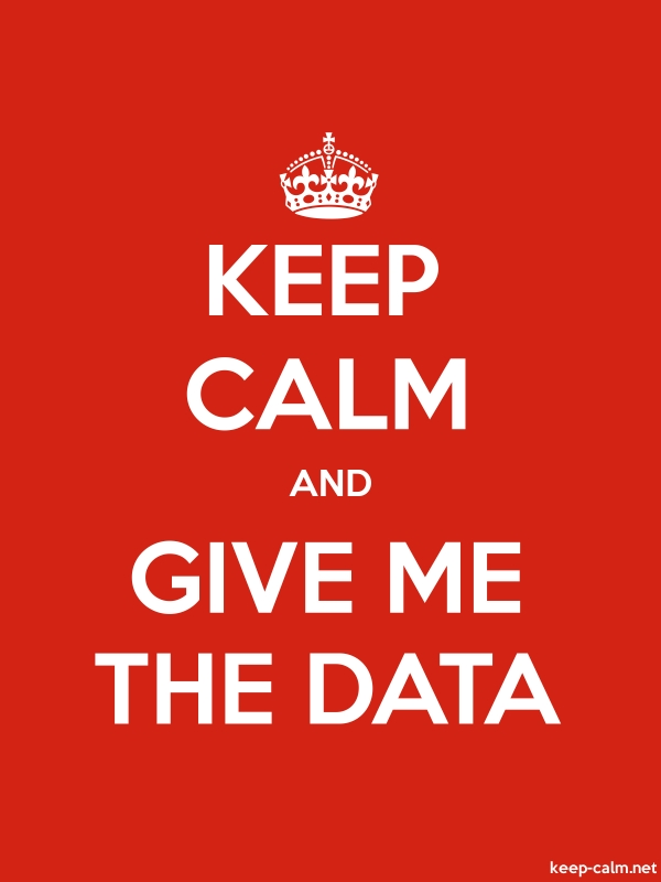 KEEP CALM AND GIVE ME THE DATA - white/red - Default (600x800)