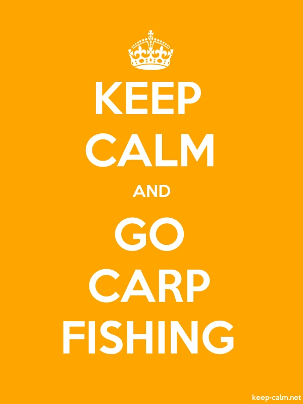 KEEP CALM AND GO CARP FISHING - white/orange - Default (600x800)