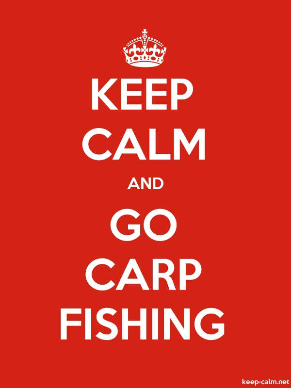 KEEP CALM AND GO CARP FISHING - white/red - Default (600x800)