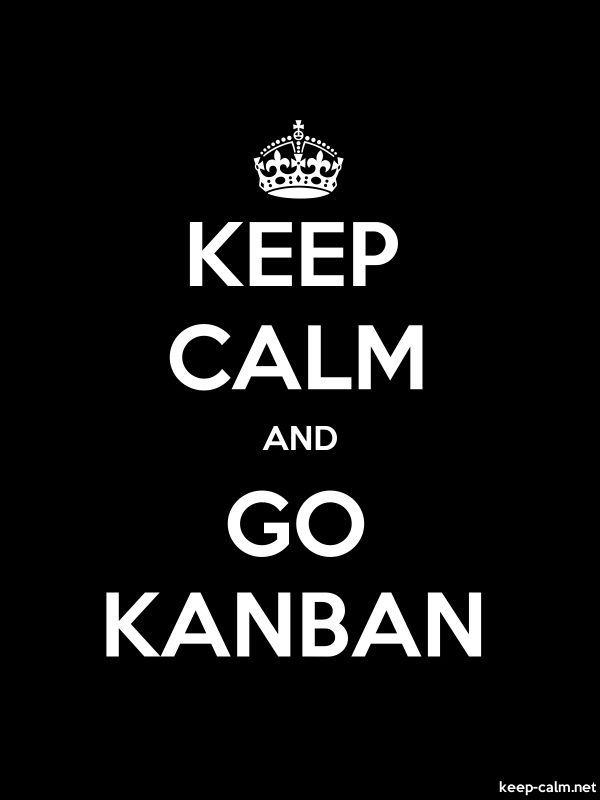 KEEP CALM AND GO KANBAN - white/black - Default (600x800)