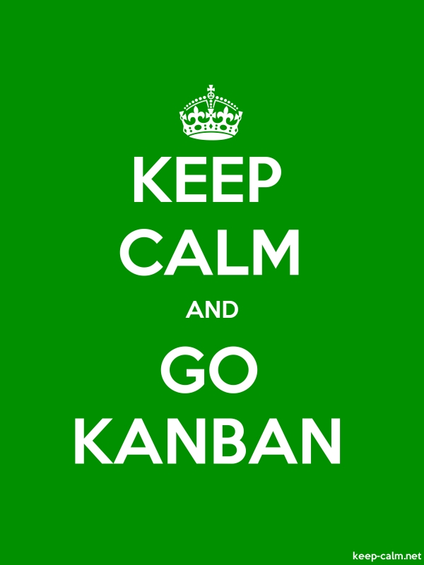 KEEP CALM AND GO KANBAN - white/green - Default (600x800)