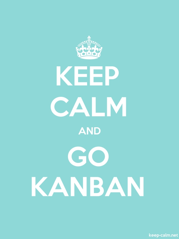 KEEP CALM AND GO KANBAN - white/lightblue - Default (600x800)