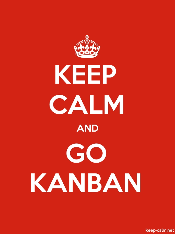 KEEP CALM AND GO KANBAN - white/red - Default (600x800)