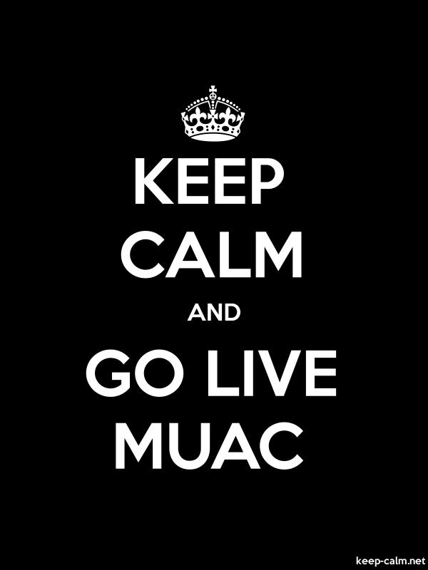 KEEP CALM AND GO LIVE MUAC - white/black - Default (600x800)