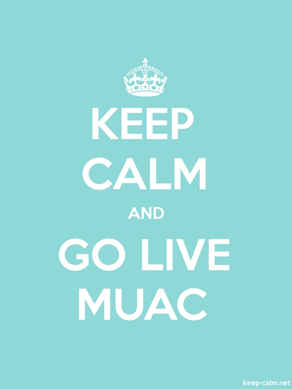 KEEP CALM AND GO LIVE MUAC - white/lightblue - Default (600x800)