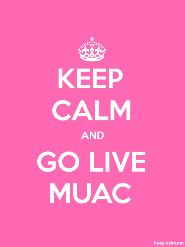 KEEP CALM AND GO LIVE MUAC - white/pink - Default (600x800)