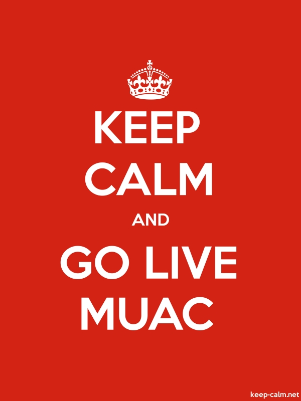 KEEP CALM AND GO LIVE MUAC - white/red - Default (600x800)