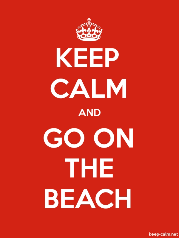 KEEP CALM AND GO ON THE BEACH - white/red - Default (600x800)