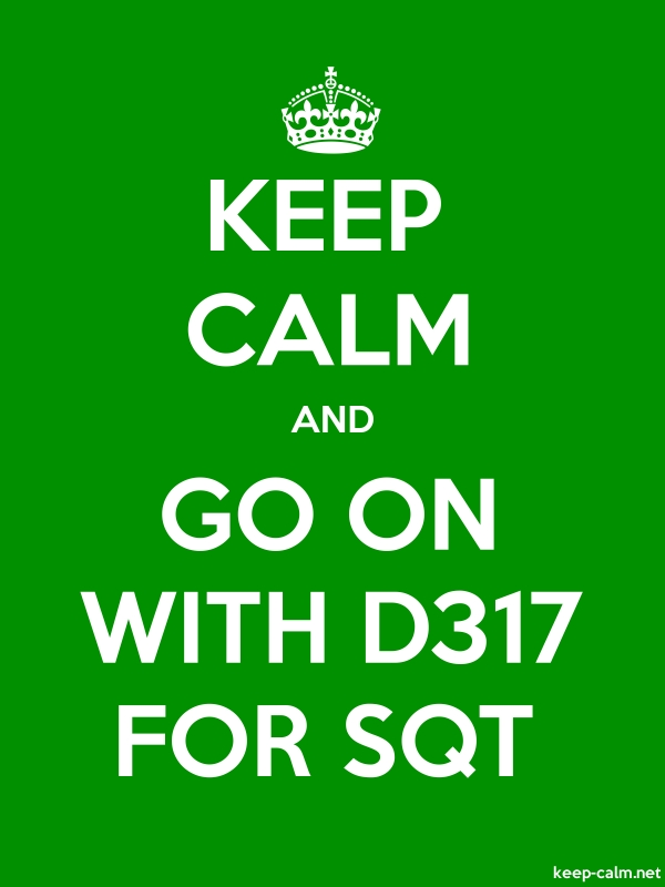 KEEP CALM AND GO ON WITH D317 FOR SQT - white/green - Default (600x800)