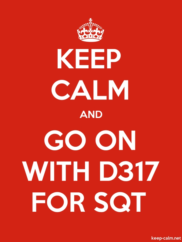 KEEP CALM AND GO ON WITH D317 FOR SQT - white/red - Default (600x800)