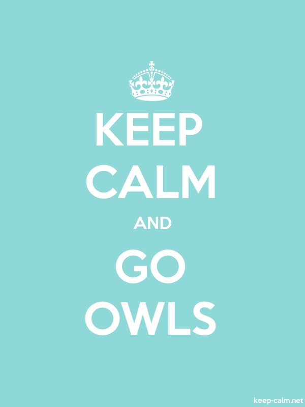 KEEP CALM AND GO OWLS - white/lightblue - Default (600x800)