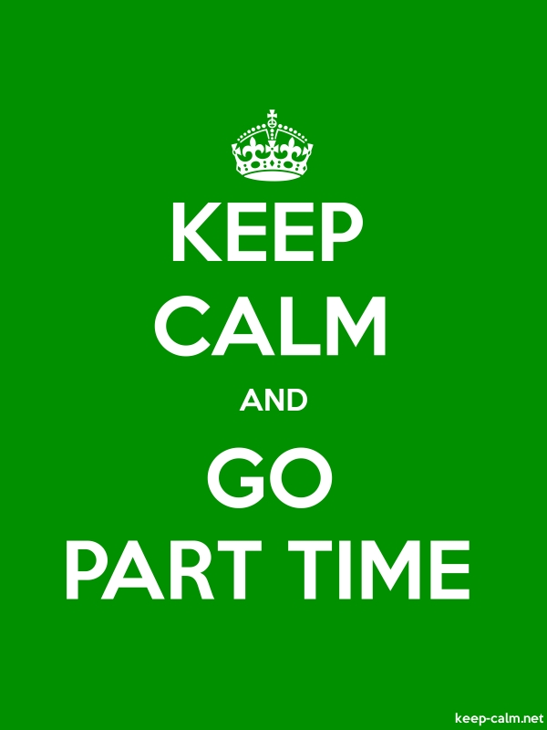 KEEP CALM AND GO PART TIME - white/green - Default (600x800)