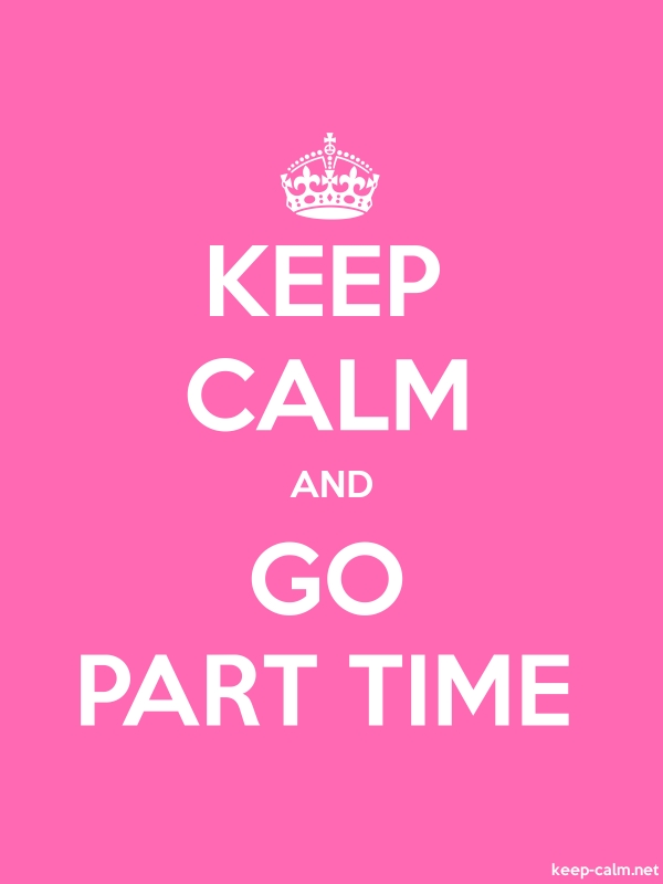 KEEP CALM AND GO PART TIME - white/pink - Default (600x800)