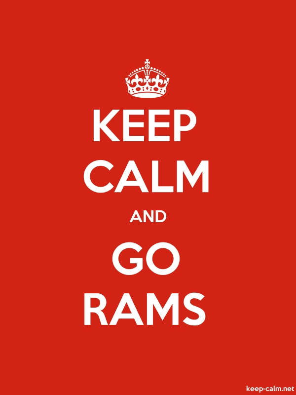 KEEP CALM AND GO RAMS - white/red - Default (600x800)