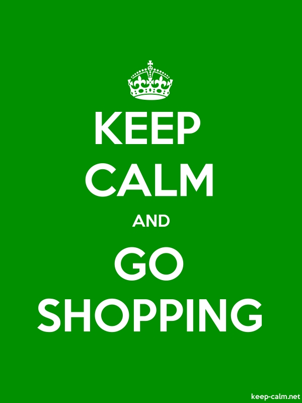KEEP CALM AND GO SHOPPING - white/green - Default (600x800)