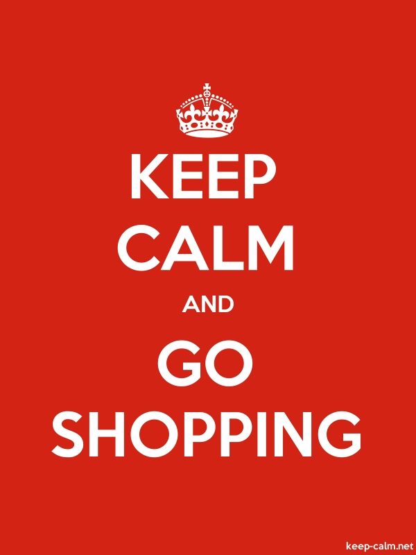 KEEP CALM AND GO SHOPPING - white/red - Default (600x800)