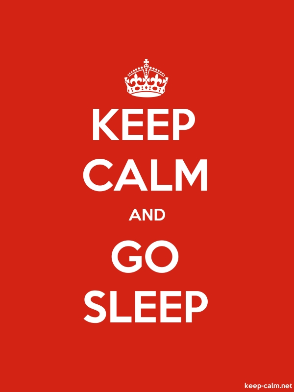 KEEP CALM AND GO SLEEP - white/red - Default (600x800)