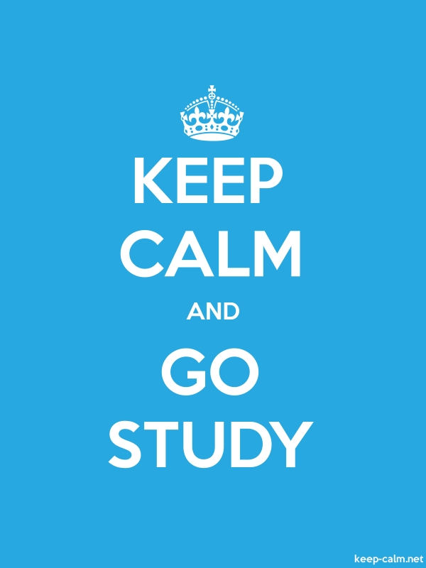 KEEP CALM AND GO STUDY - white/blue - Default (600x800)