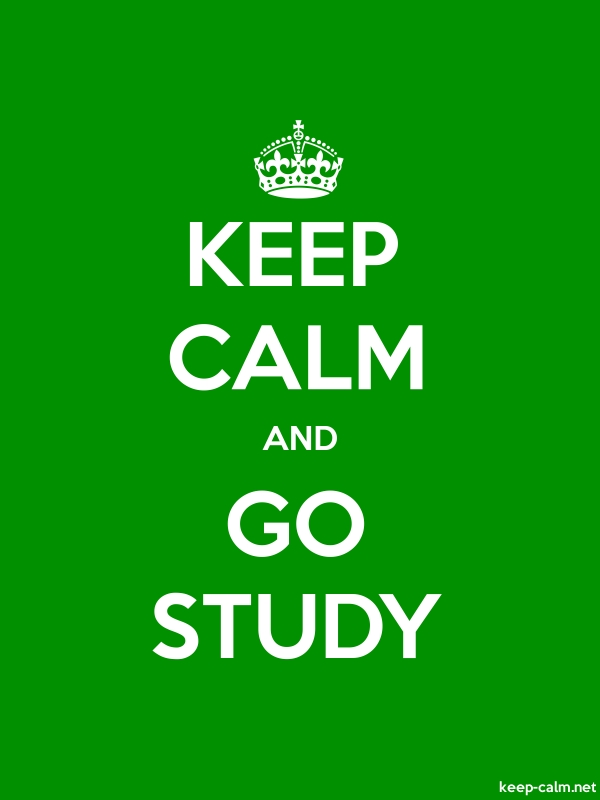 KEEP CALM AND GO STUDY - white/green - Default (600x800)