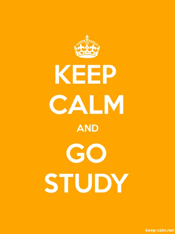 KEEP CALM AND GO STUDY - white/orange - Default (600x800)