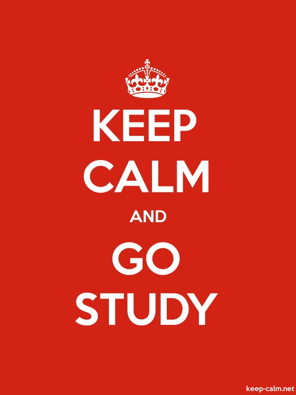 KEEP CALM AND GO STUDY - white/red - Default (600x800)