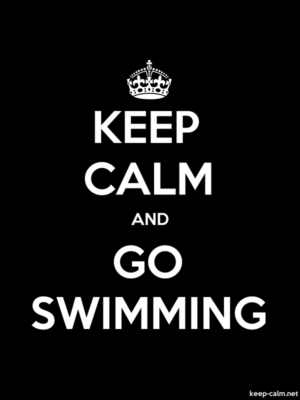 KEEP CALM AND GO SWIMMING - white/black - Default (600x800)