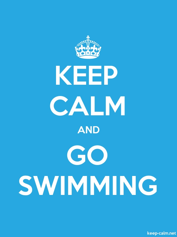 KEEP CALM AND GO SWIMMING - white/blue - Default (600x800)
