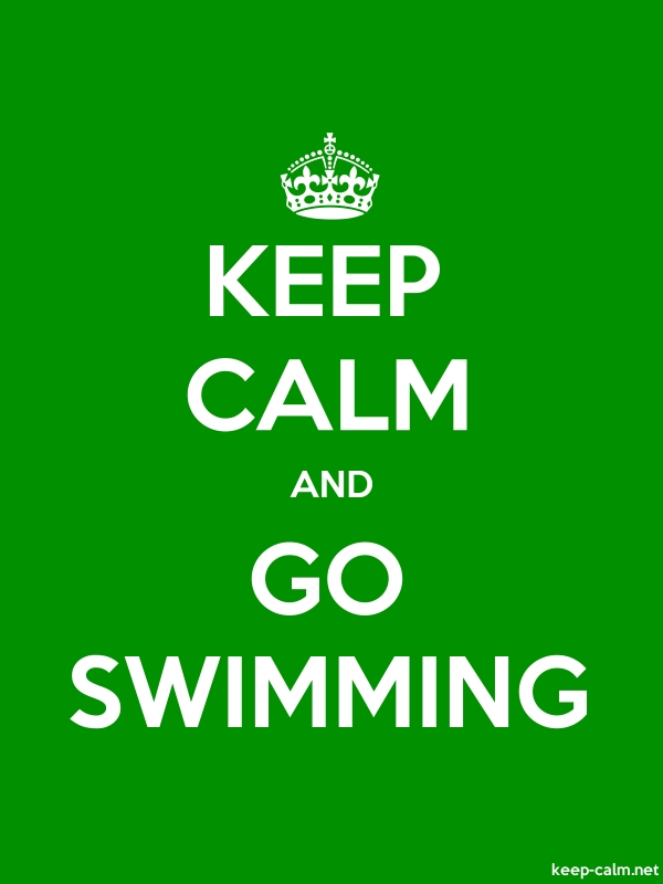 KEEP CALM AND GO SWIMMING - white/green - Default (600x800)