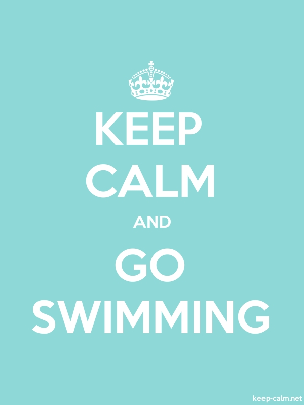 KEEP CALM AND GO SWIMMING - white/lightblue - Default (600x800)