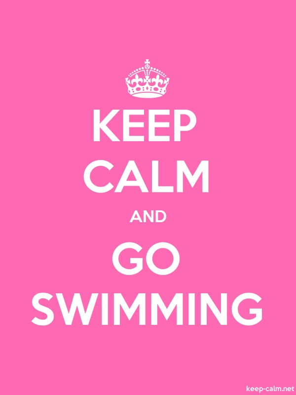 KEEP CALM AND GO SWIMMING - white/pink - Default (600x800)