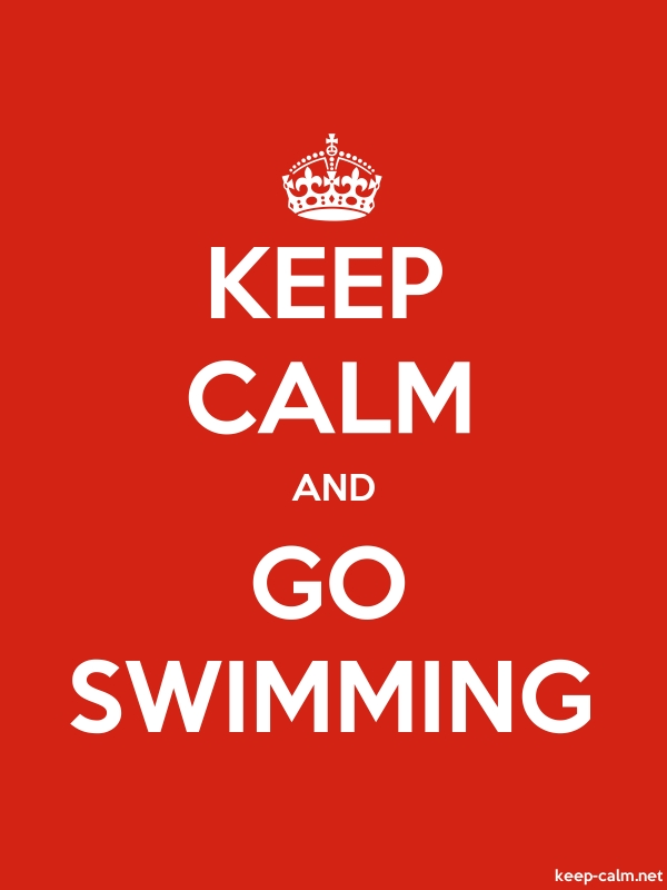 KEEP CALM AND GO SWIMMING - white/red - Default (600x800)